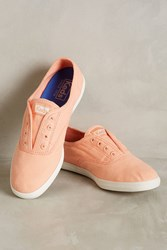 Anthropologie Keds Washed Canvas Sneakers Pink