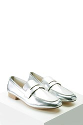 Forever 21 Metallic Faux Leather Loafers