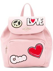 Love Moschino Ciao Patch Backpack Pink