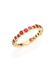 Ippolita Glamazon Starlet Orange Sapphire And 18K Yellow Gold Band Ring Gold Orange