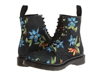 Dr. Martens Castel 8 Eye Boot W Black Hawaiian Floral T Canvas Women's Lace Up Boots