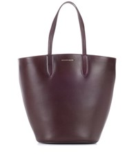 Alexander Mcqueen Leather Shopper Purple
