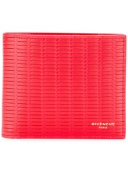 Givenchy Braided Billfold Wallet Red