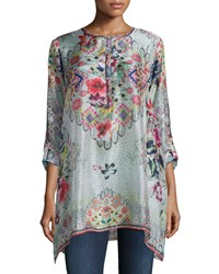 Johnny Was Livelli Long Sleeve Printed Tunic Multi Colors