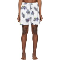 Saturdays Surf Nyc White Timothy Peak Palm Swim Shorts