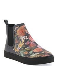 Elliott Lucca Palmira Faux Shearling Lined Ankle Boots Floral