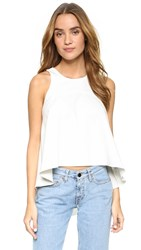 Milly Cady Trapeze Top White