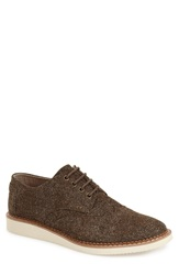 Toms 'Herringbone Brogue' Wingtip Oxford Men Dark Earth Brown