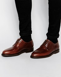 Selected Homme Benny Leather Derby Shoes Brown