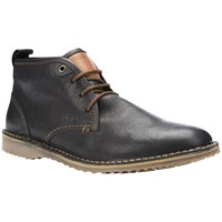 Geox Zal Leather Desert Boots Black