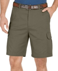 Geoffrey Beene Big And Tall Solid Cargo Shorts New Olive
