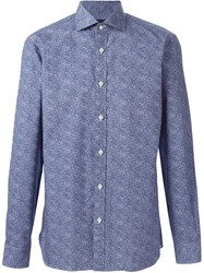 Z Zegna Printed Shirt Blue