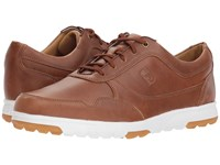 Footjoy Golf Casual Spikeless Street Sneaker All Over Taupe Blaze Smooth Golf Shoes Brown