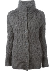 Woolrich Cable Knit Cardigan Grey