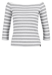 Superdry Long Sleeved Top Hatti Grey White