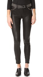 L'agence Aurelie Studded Leather Pants Noir
