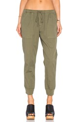 Velvet By Graham And Spencer Noele Cotton Twill Cargo Pant Army