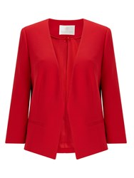 Jacques Vert Edge To Edge Jacket Red