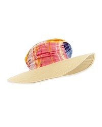 Missoni Striped Wide Brim Hat Red Multi Red Multi