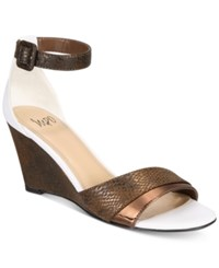 Impo Vandy Two Piece Wedge Sandals Women's Shoes Bronze Multi