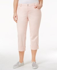 Style And Co Plus Size Tummy Control Capri Jeans Sea Lily