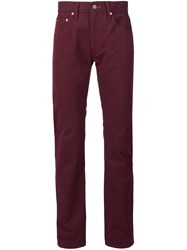 Levi's Vintage Clothing Straight Leg Trousers Red