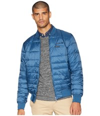 Members Only Down Blend Quilted Puffer Jacket Slate Coat Metallic