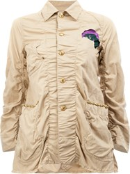 Undercover Patched Military Jacket Women Cotton Linen Flax 3 Nude Neutrals