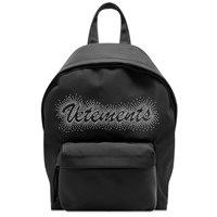 Vetements Small Studded Logo Backpack Black