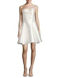 Mac Duggal Strapless Fit And Flare Dress Ivory