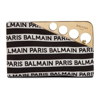 Balmain Black And White Cerniere Clutch
