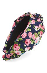 Tasha Turban Knot Floral Headband Blue Multi