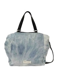 Sanctuary Downtown Washed Denim And Vegan Leather Tote