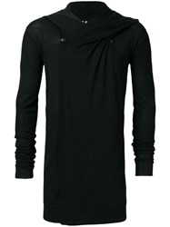 Rick Owens Hooded Longline Cardigan Black