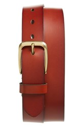 Nordstrom Men's Big And Tall Men's Shop Valencia Embossed Leather Belt Chili