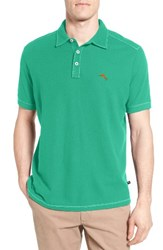 Tommy Bahama Men's Big And Tall Tropicool Spectator Pique Polo Jade Isle