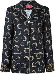 For Restless Sleepers 'Leopard' Print Longsleeved Shirt Black