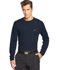 Greg Norman For Tasso Elba Big And Tall Solid Waffle Knit Performance Golf Shirt Night Sky