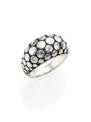 John Hardy Dot Sterling Silver Dome Ring Silver Black