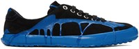 Comme Des Garcons Homme Plus Black And Blue Painted Movesta Sneakers
