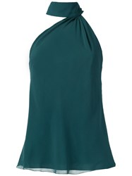 Giuliana Romanno Silk Blouse Green
