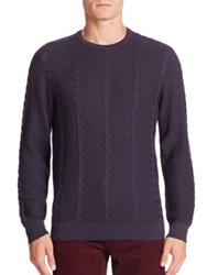 Lacoste Long Sleeve Cotton Cable Crewneck Sweater Cosmos