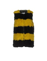 Mauro Grifoni Coats And Jackets Faux Furs Ochre