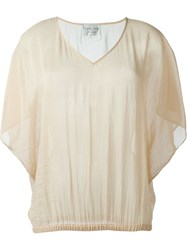Forte Forte V Neck Top Nude And Neutrals