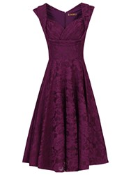Jolie Moi Crossover Bust Ruched Prom Dress Dark Purple