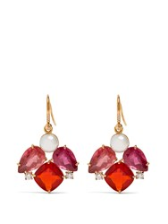Irene Neuwirth Diamond Tourmaline Pearl And Rose Gold Earrings Pink Gold