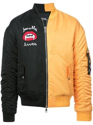 Haculla 2Faced Panel Bomber Jacket Black