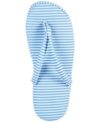 Charter Club Printed Slippers Only At Macy's Blue Stripe