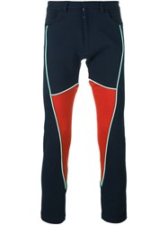 Martine Rose 'Panel' Trousers Blue