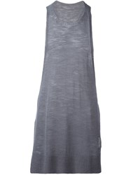 Onebyme Racer Back Tank Top Grey